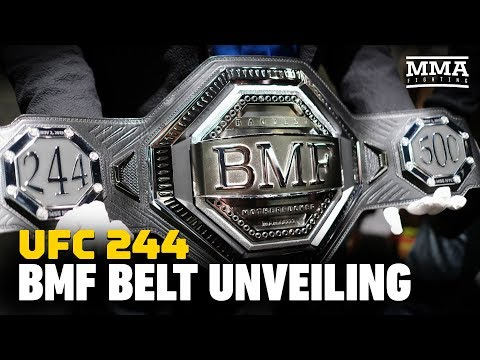 UFC 244: The $50,000 'BMF' Belt Is Revealed - MMA Fighting