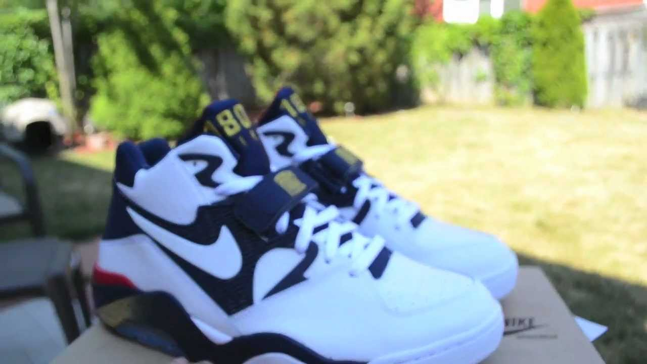 151d6f7a86 Nike Air Force 180 Barkley 2012 Olympic Pickup Review + On Feet HD ...