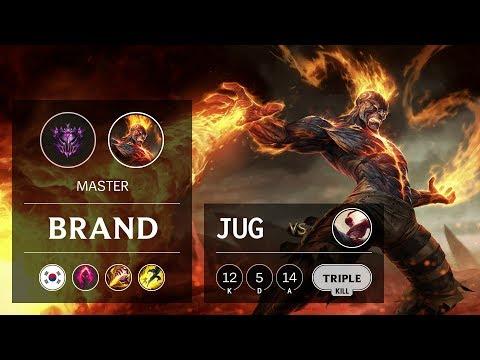 Brand Jungle vs Lee Sin - KR Master Patch 9.22