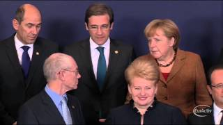 European Council Summit Group photo - November 2012 (Raw footage)