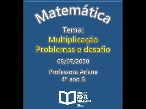 Matematica Multiplicacao Problemas E Desafio Youtube