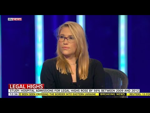 Charlotte Bowyer argues against a crackdown on legal highs on Sky News