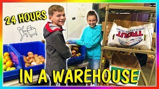 24 HOURS IN A WAREHOUSE | We Are The Davises
