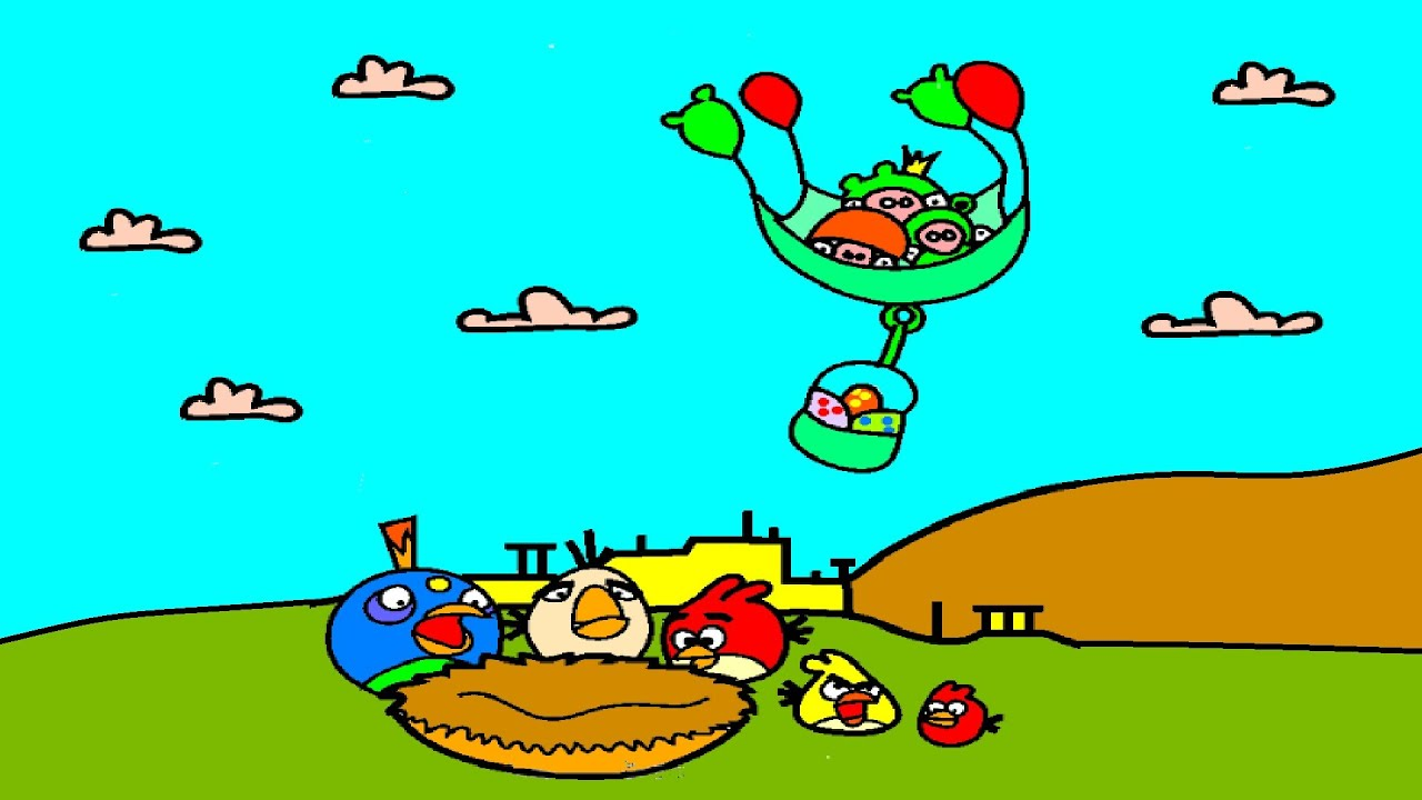 flying pigs steels eggs from angry birds coloring book angry