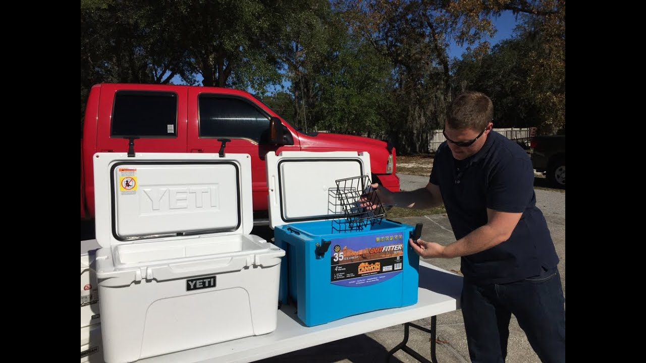 Canyon Coolers 35Q Ice Chest Review, Does It Hold Ice Longer Than Yeti?? Ice Challenge Results ...