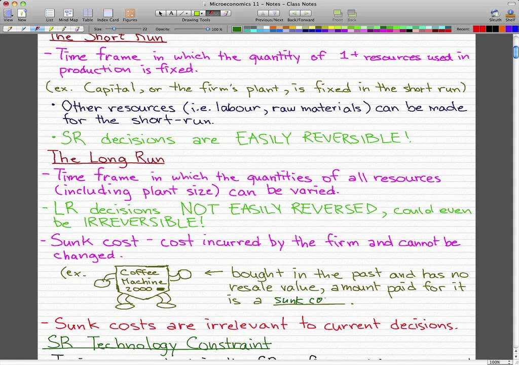 Microeconomics - 111: Costs and Output