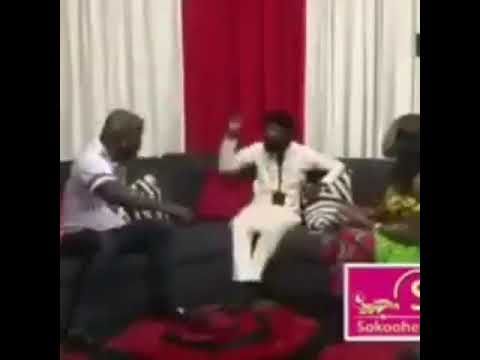 Ghanaian boxer beats comedian on live TV for making fun of his hairstyle