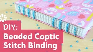 DIY Coptic Stitch Bookbinding with Beads | Sea Lemon