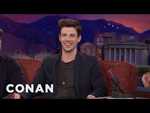 Grant Gustin's Spur Of The Moment Marriage Proposal   CONAN on TBS