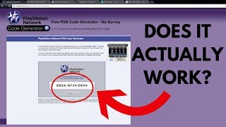 Redeeming FREE PSN CODES ONLINE... Does It Actually Work??