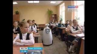 Робот в школе под управлением ученика-инвалида