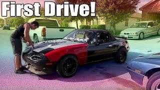 First drive in the Forged Turbo Hakuna Miata!