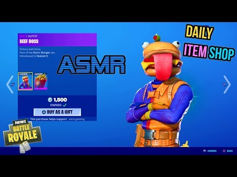 ASMR | Fortnite Beef Boss Skin Is Back! Daily Item Shop Update 🎮🎧 Relaxing Whispering 😴💤