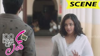 Nithya menen breakups with rahul and runs for dulquer - love scene - 100 days of love movie scenes