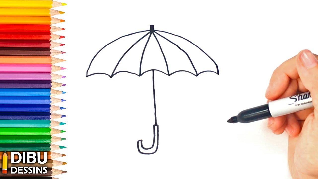Comment dessiner un parapluie dessin de parapluie