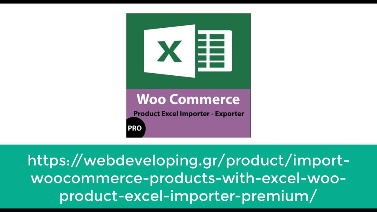 WordPress Product Excel Import & Export for WooCommerce – WordPress