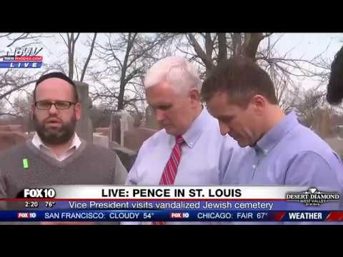 MAJOR: Pence Speaks Against Anti-Semitism During Visit to Vandalized Jewish Cemetery in St. Louis