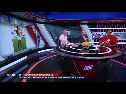 Nicky Winmar on AFL360 talking about the Nicky Winmar Statue proposal