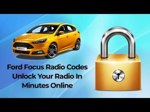 Ford Focus Radio Code Unlocks Online Using Your Serial Number