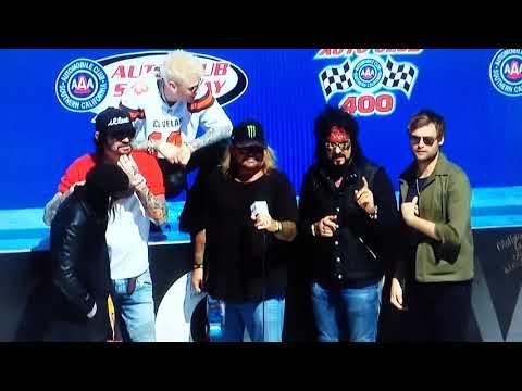 Martha Quinn - Motley Crue Stops By NASCAR Race