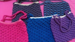 Crochet Bag (Crocodile Stitch) PART 1