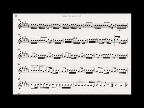 DESPACITO SHEET MUSIC ALTO SAX AND PLAY ALONG
