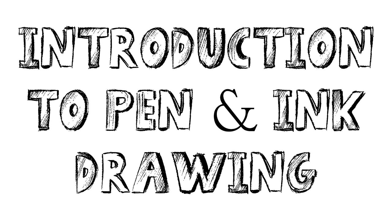 Pen & ink drawing tutorials - introduction to pen and ink drawing ...