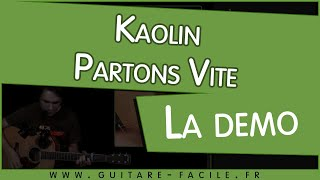 Cover Kaolin Partons vite - cours guitare