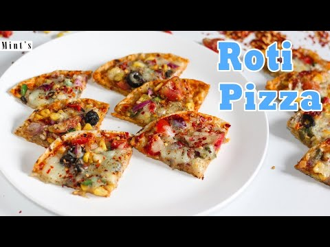 Roti pizza recipe how to make pizza from leftover chapati roti pizza recipe in hindi video forumfinder Gallery