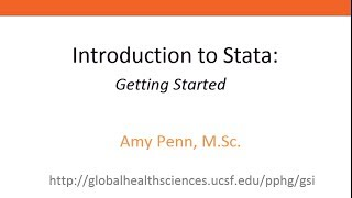 introduction to stata getting started
