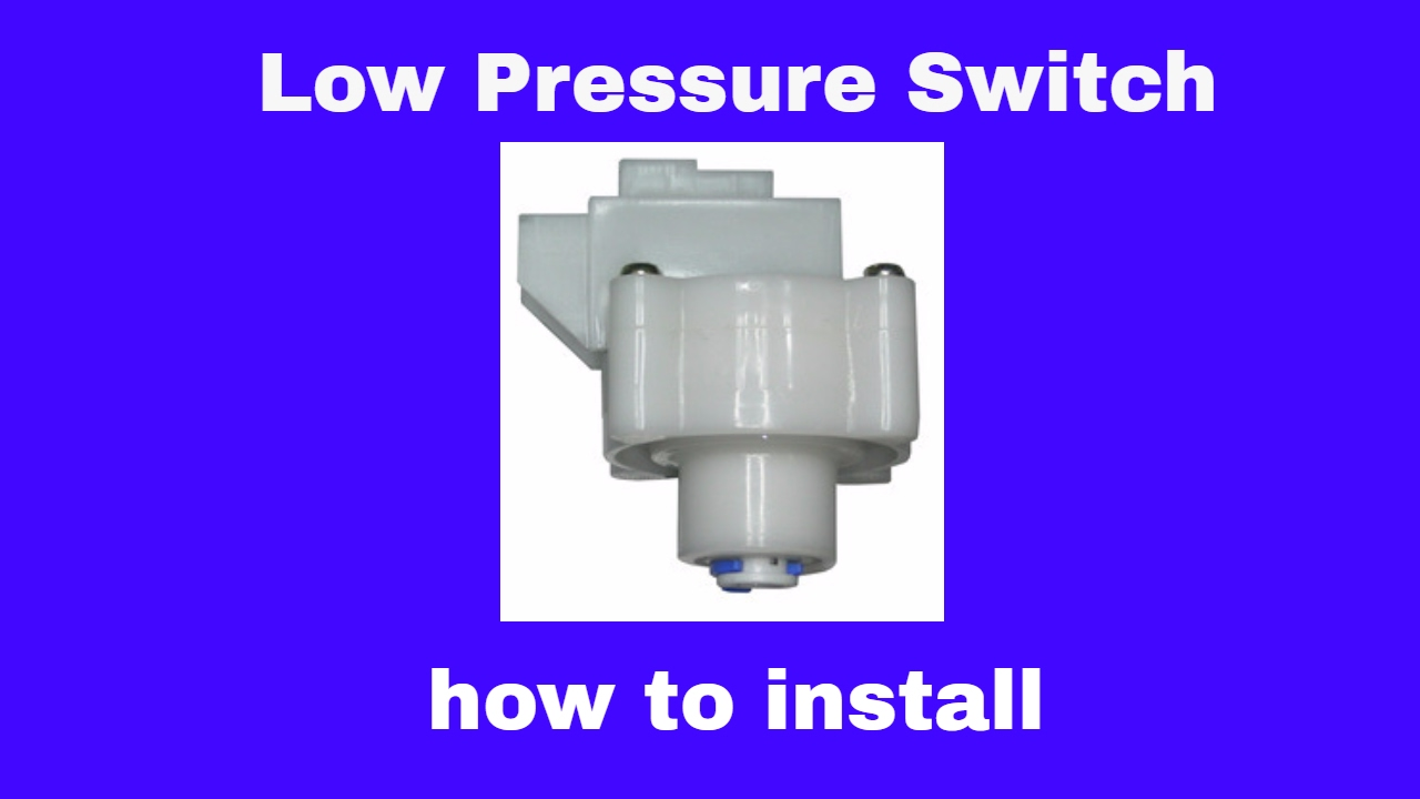 Low Pressure Switch How To Install Youtube Wiring Diagram