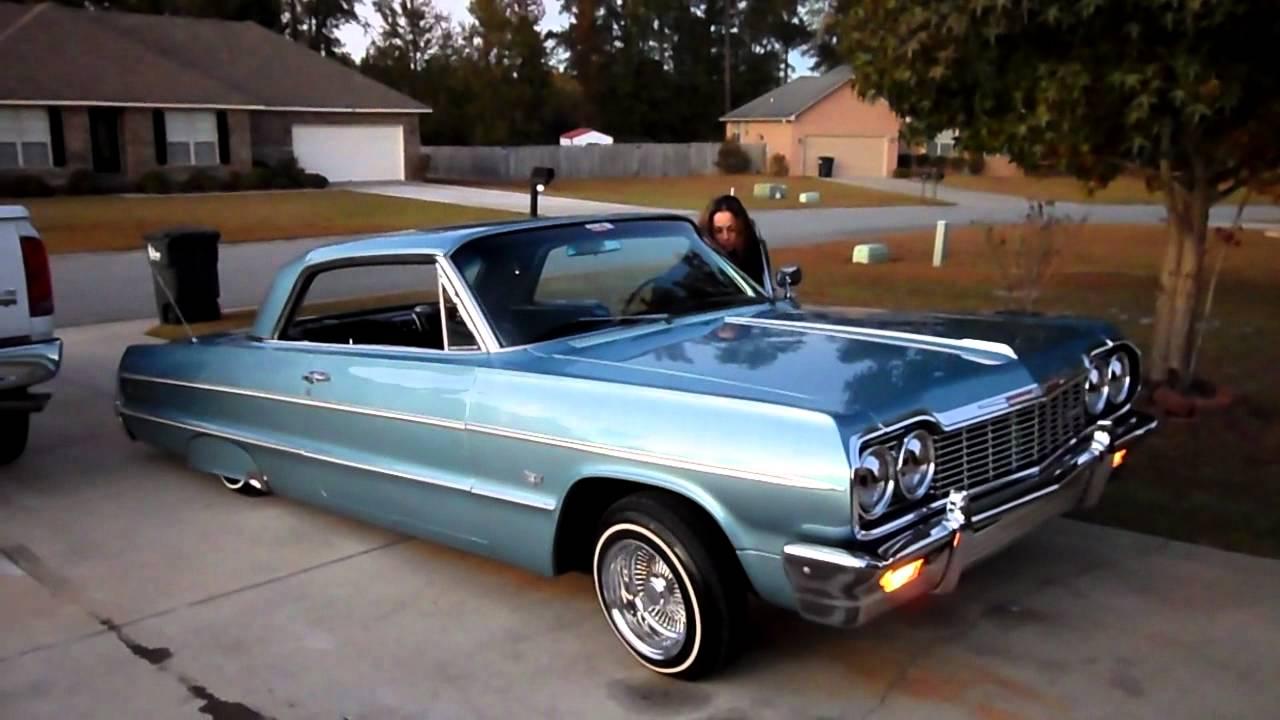 64 Impala Convertible >> 1964 impala with my lady hitting the switches - YouTube