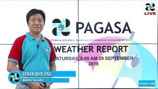 Public Weather Forecast Issued at 5 AM, September 29, 2018