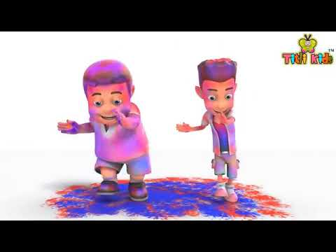 Happy Holi 2019 Funny Cartoon Dance Whatsapp Status Video  Happy Holi Wishes  Holi Status 2019