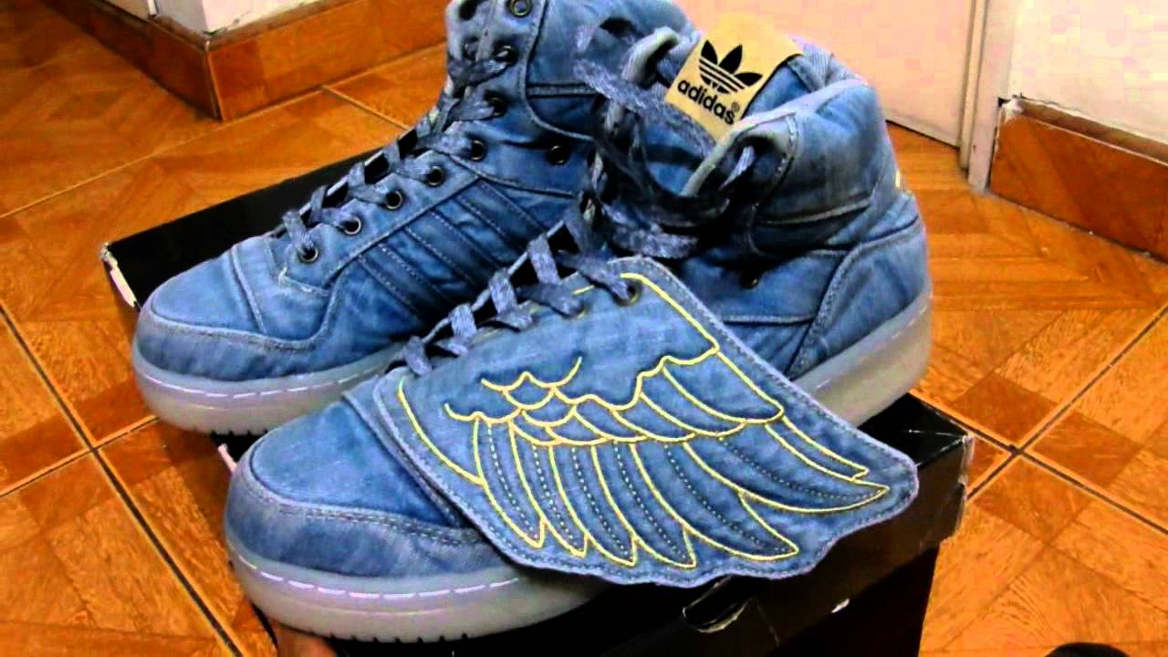 quality design a236d 6ca7d Jeremy Scott Denim Wings Review On Feet - YouTube