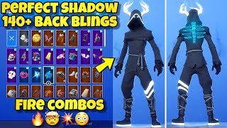 "NEW ""PERFECT SHADOW"" SKIN Showcased With 140+ BACK BLINGS! Fortnite BR (BEST PERFECT SHADOW COMBOS)"