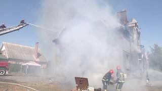 Khmelnytsky rescuers bir uyning tom (ISHCHI)bir olov tugatilgan