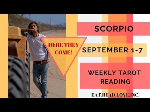 scorpio weekly 1 to 7 tarot horoscope