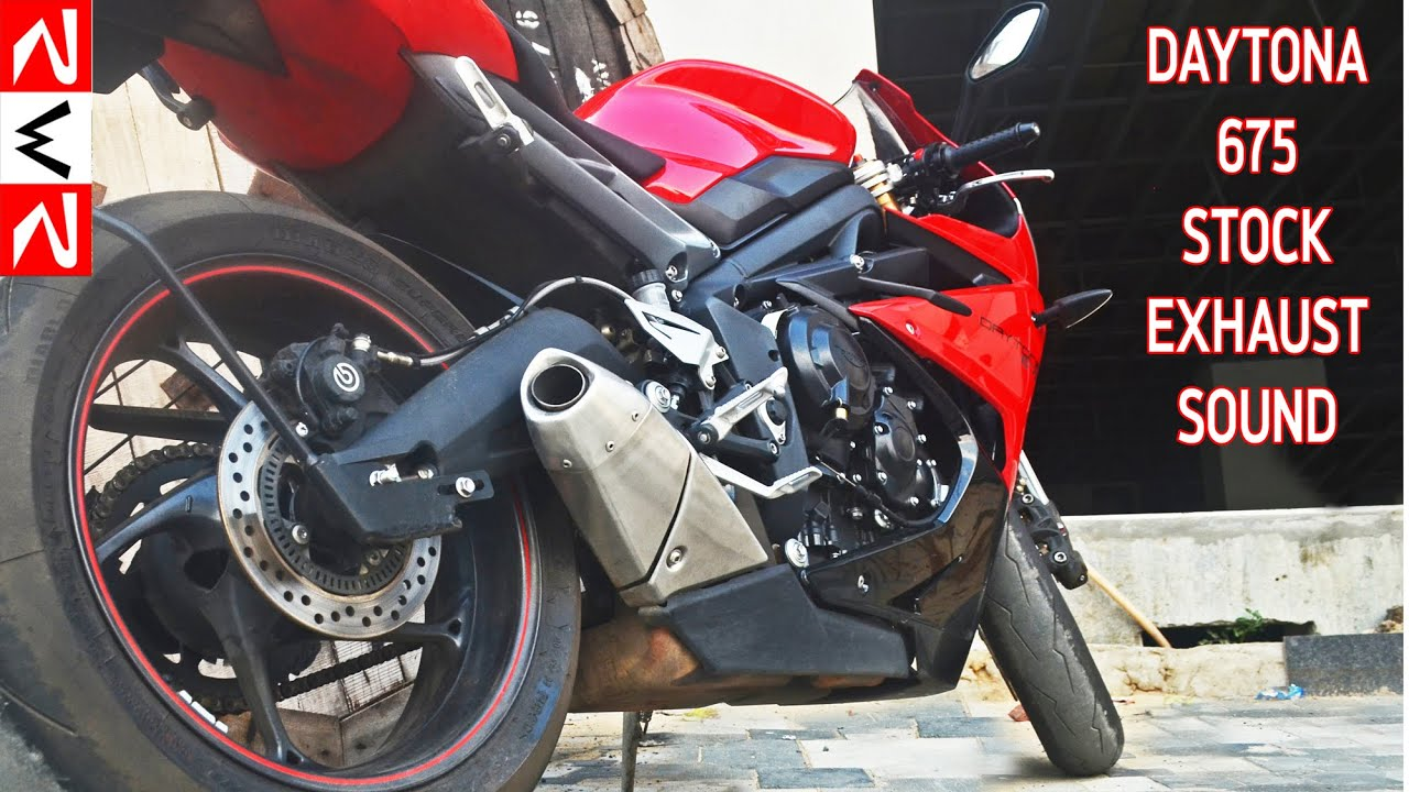2015 Triumph Daytona 675 Stock Exhaust Sound Rwr Youtube