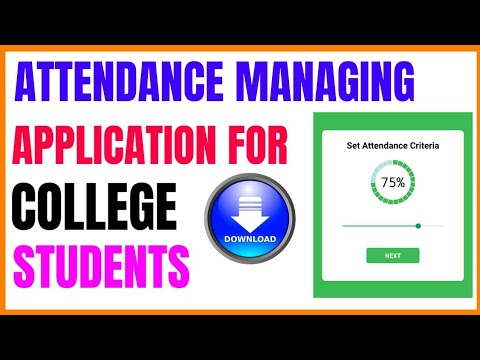 ATTENDANCE MANAGING APP FOR COLLEGE STUDENTS || ATTENDANCE TRACKER 2019
