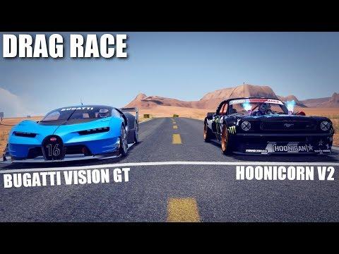 BUGATTI VISION GT VS HOONICORN V2 DRAG RACE | ASSETTO CORSA