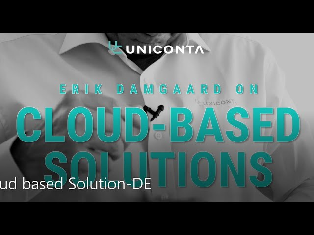 Erik Damgaard über die cloud-basierte Lösung