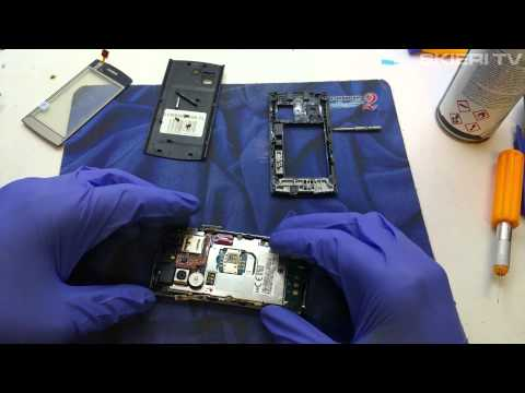 LG GM360 wymiana dotyku - digitizer - disassembly - repair