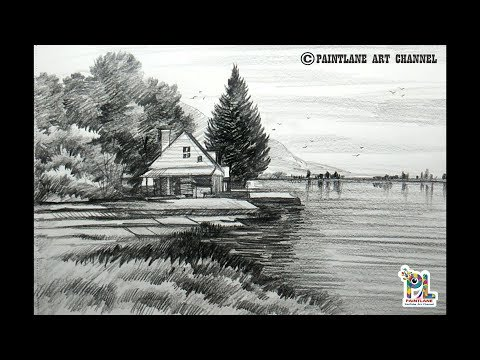 learn-scribble-scenery-drawing-with-pencil-for-beginners- -easy-pencil-art