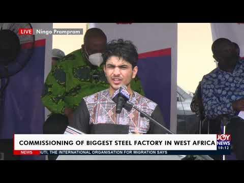Live: Commissioning of biggest Steel Factory in West Africa - News Desk on JoyNews (13-4-21)