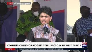 Live Commissioning of biggest Steel Factory in West Africa - News Desk on JoyNews 13-4-21