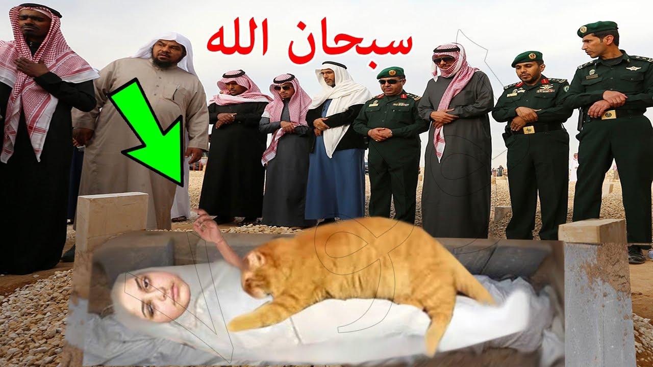 هذه المرأة كانت تنام مع قطتها كل يوم في الغرفة فانظر ماذا حدث لها عندما وضعت في القبر ! سبحان الله