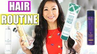 HAIR CARE ROUTINE! | Herbal Essences, DryBar, Volaire, L'Oreal, Kerastase, Honest Beauty