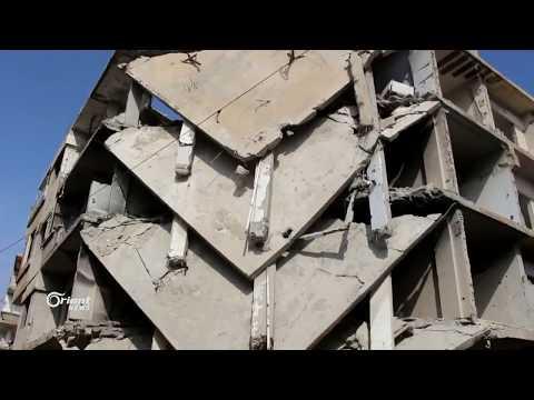 استمرار حملة القصف الجوي على مدينة عربين بالغوطة الشرقية