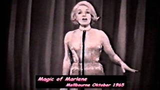 "Marlene Dietrich  AustraliaTV Magic of Marlene 1965 ""  JOHNNY wenn du Geburtstag hast"""